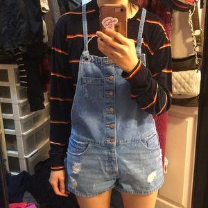 Zara denim overalls